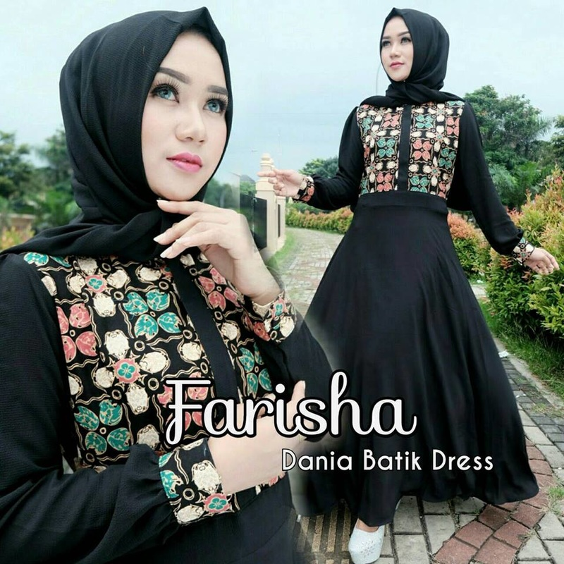 Baju Muslim Dania batik dress by farisha