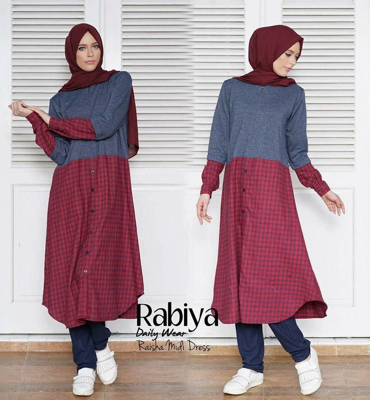 Baju Muslim Raisha Midi Dress by Rabiya