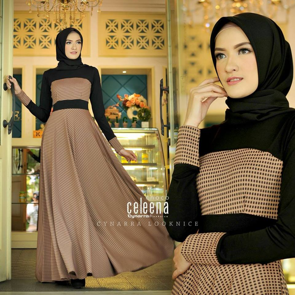 Baju Muslim Terbaru Celeena Dress By Cynarra