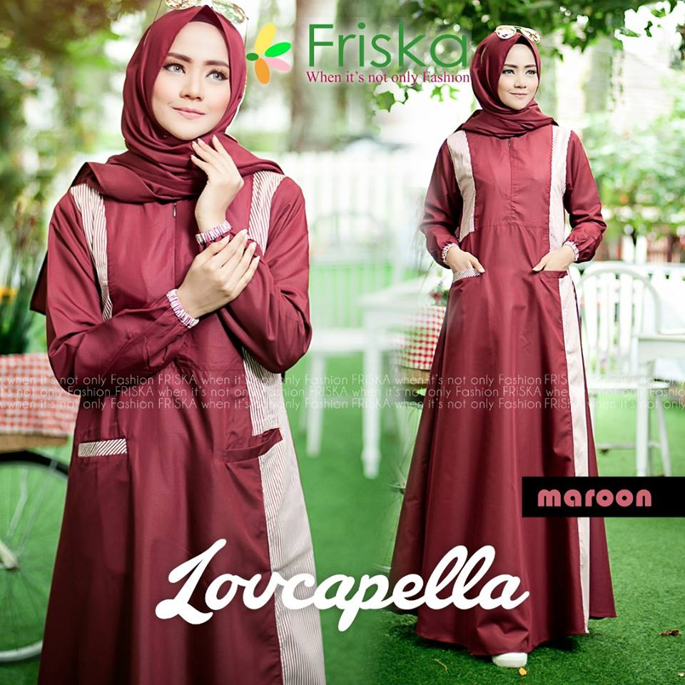 Baju Muslim Terbaru Lovcapella Set By Friska Fashion