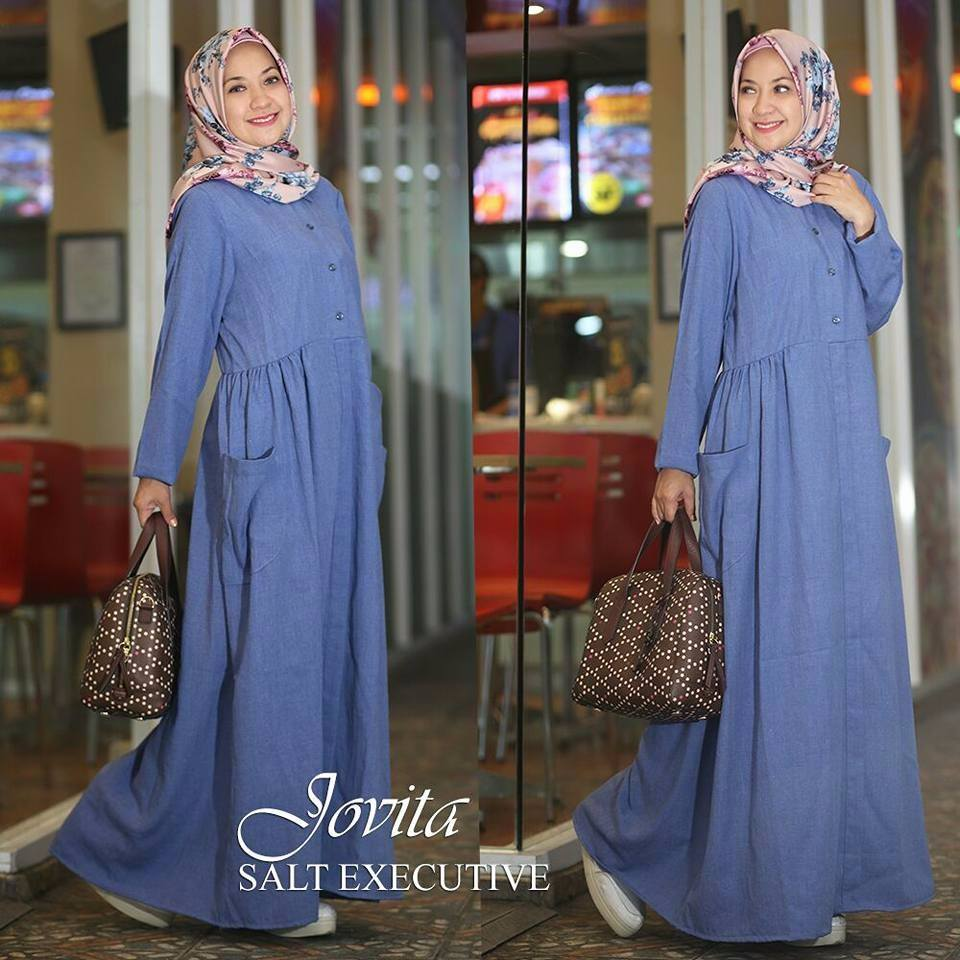 Baju Muslim Terbaru Jovita Dress By Salt Executive