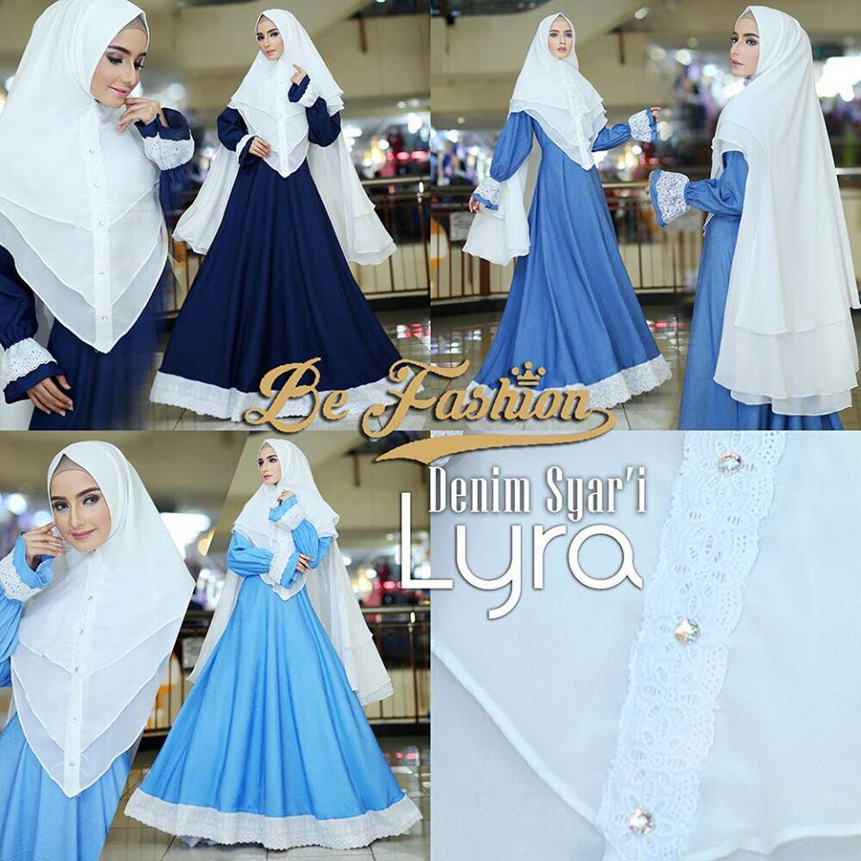 Baju Muslim Terbaru  Lyra Denim By Be Fashion