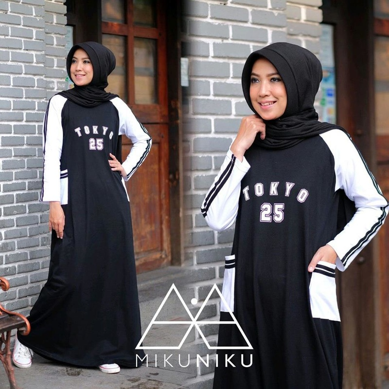 Baju Muslim Terbaru Sporty Dress By MIKUNIKU
