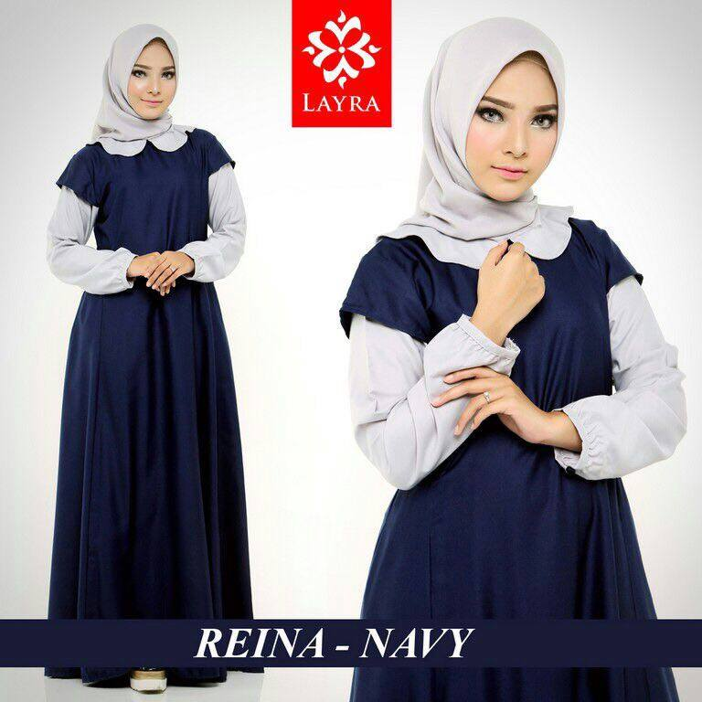 Baju Muslim Terbaru Reina Dress By Layra